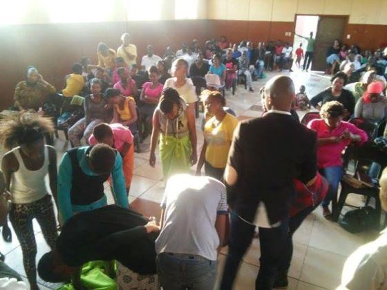 African church in session