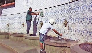 Fonte Judith, no Alto, ganha nova placa indicando a potabilidade da água