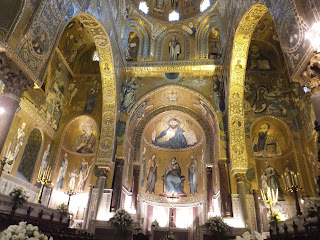 The golden mosaics of the Cappella Palatina