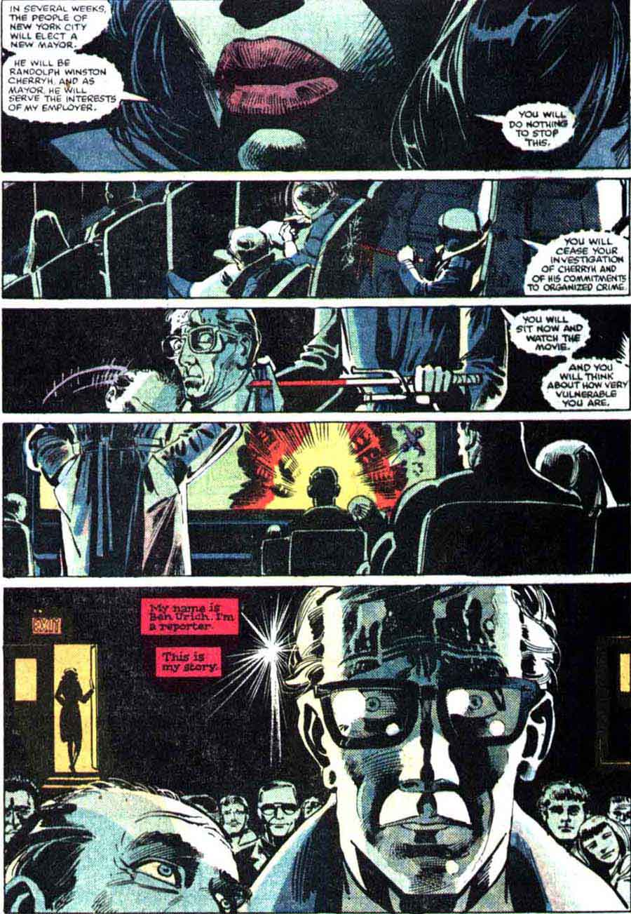 Daredevil v1 #179 marvel comic book page art by Frank Miller