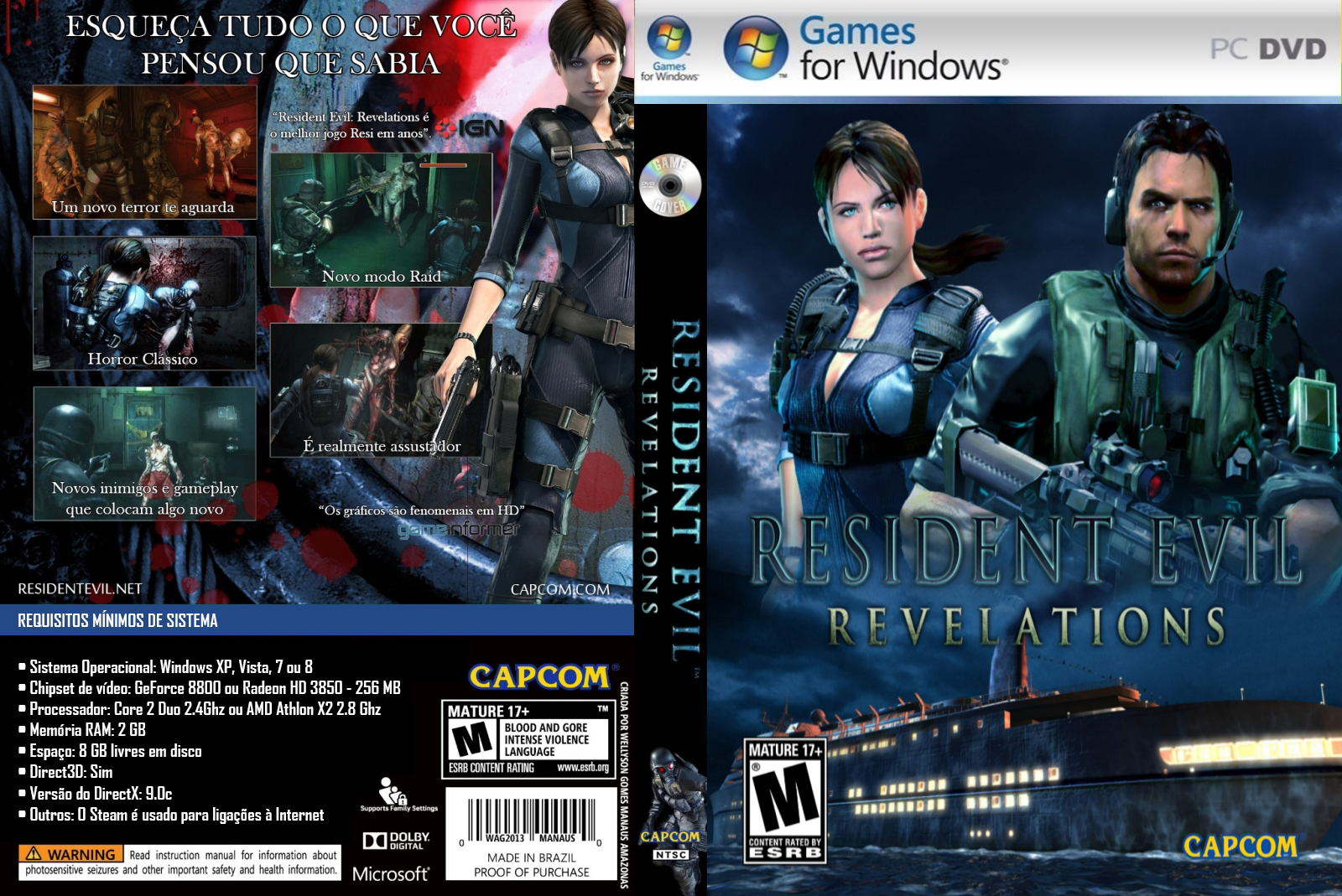 Resident Evil Revelations PC DVD Capa