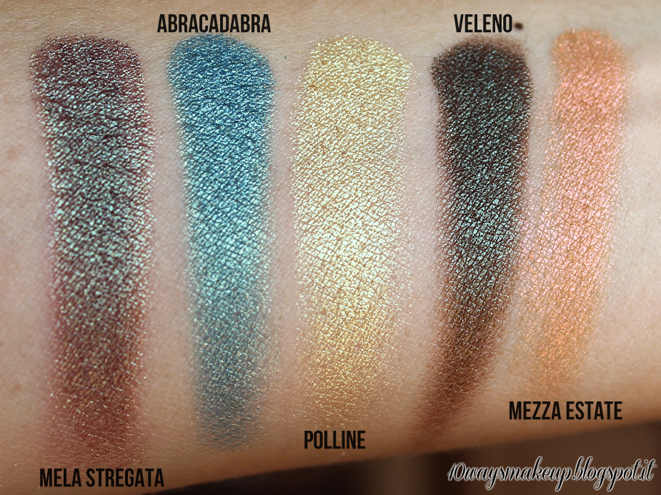 neve cosmetics duochrome palette swatches