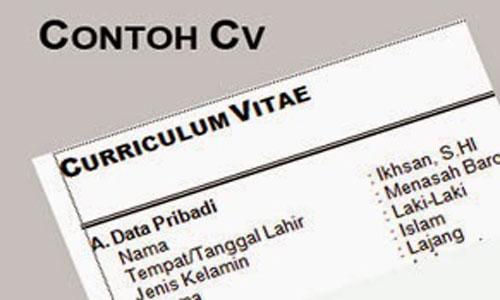Contoh Curriculum Vitae (CV) Kreatif dan Menarik untuk Fresh Graduate