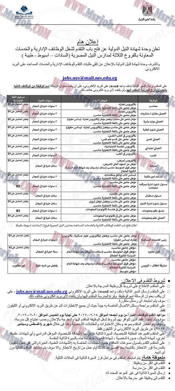 اعلان وظائف مجلس الوزراء لخريجي الجامعات والدبلومات والتقديم والاوراق 14 / 7 / 2017