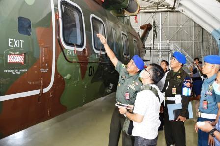 POM TNI Dampingi Tim Ahli KPK Cek Fisik Helikopter AW-101