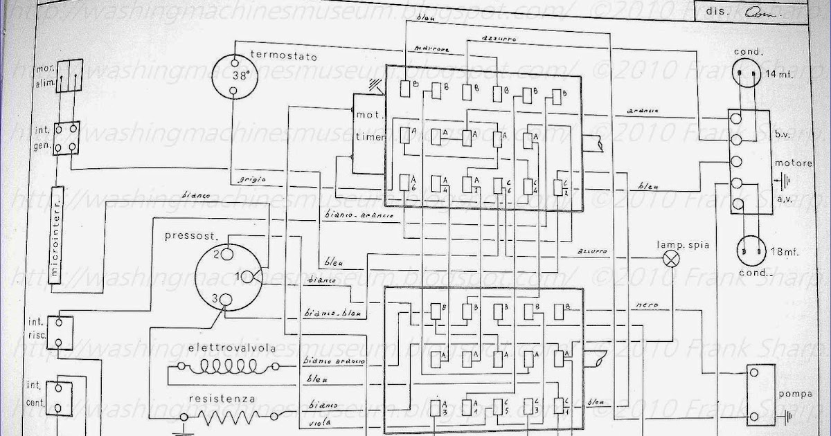 Washer Rama Museum.: CANDY SA75 TIMER 22445 SCHEMATIC DIAGRAM.