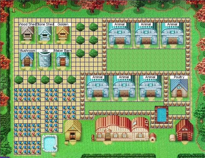 Kawaii/Kitsch Lifestyle: Harvest Moon DS Farm Layout