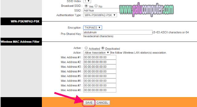 cara merubah password tp link td w8901g