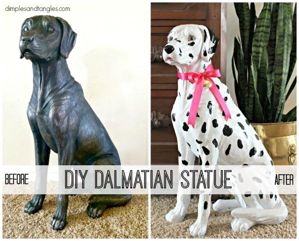 dog, dalmatian, dog statue