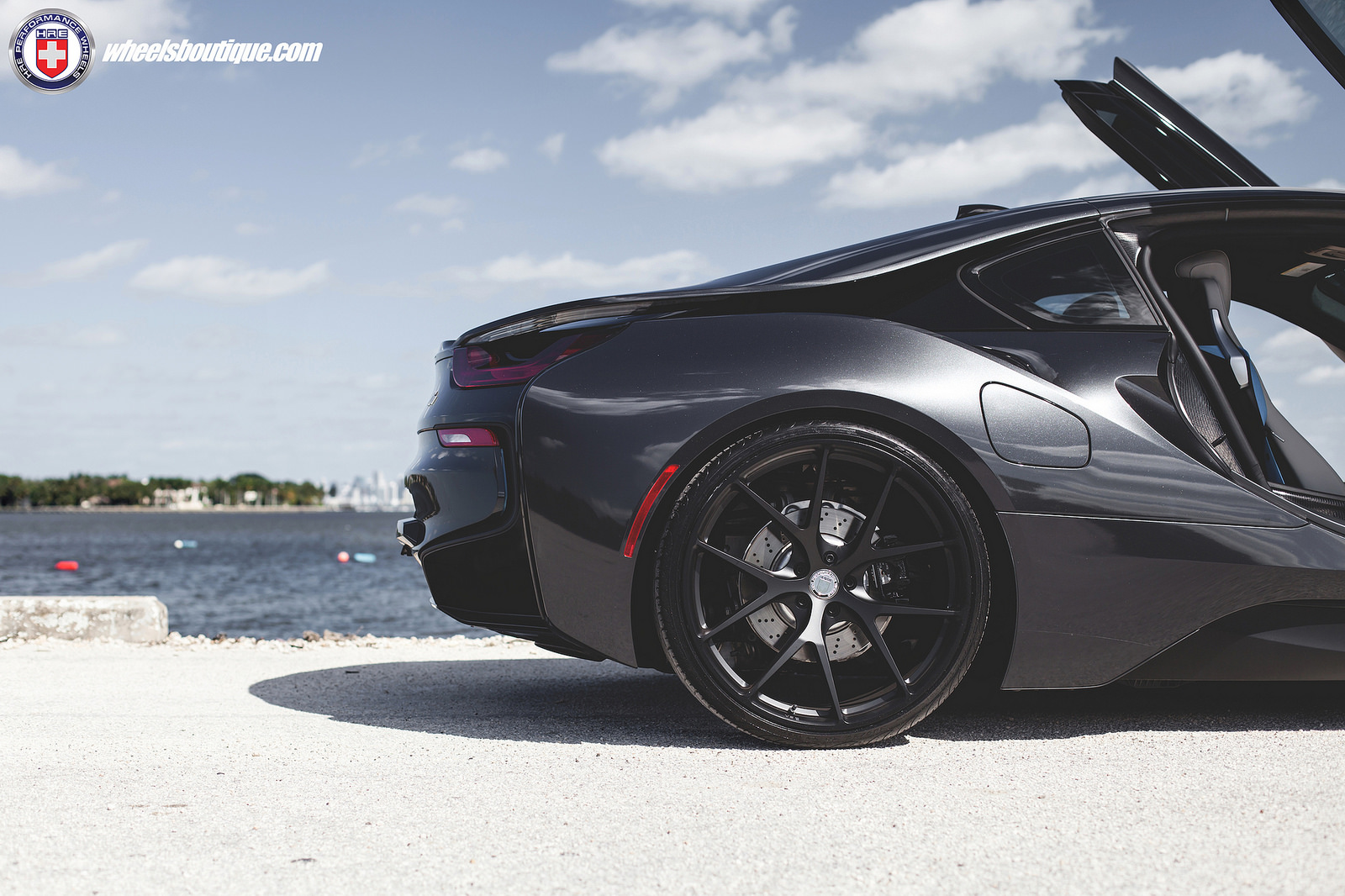 Blacked Out Bmw I8 Looks Stealthy With Hre Wheels Types Cars