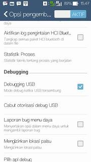 Cara mengaktifkan USB Debugging di semua android