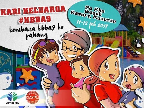 Family Day KBBA9 2017 : De Rhu Beach Resort, Kuantan Lokasi Terbaik.