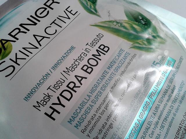 mascarilla hydra bomb garnier