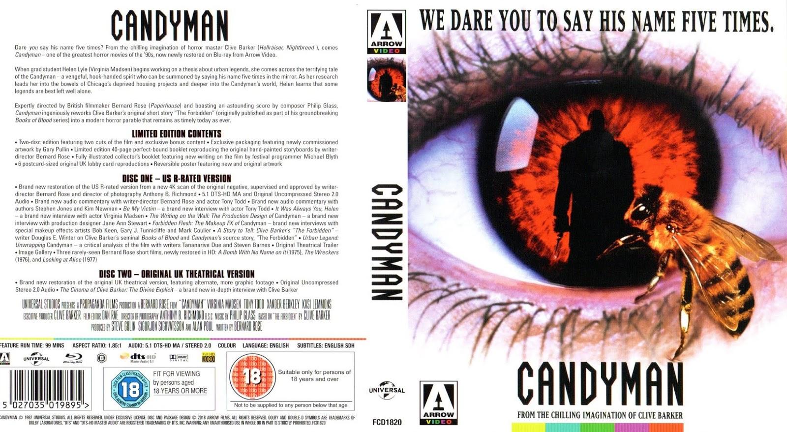 The Big Movie House: Candyman (Arrow Video U K ) Blu-ray