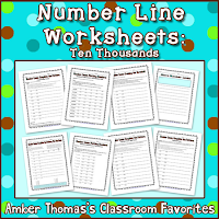 https://www.teacherspayteachers.com/Product/Number-Line-Worksheets-for-Place-Value-in-the-Thousands-276294
