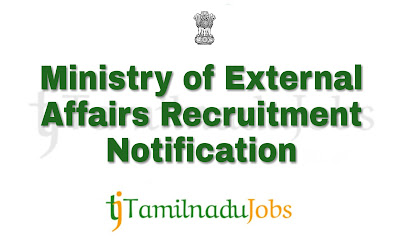 MEA Recruitment notification 2018, government car driver jobs