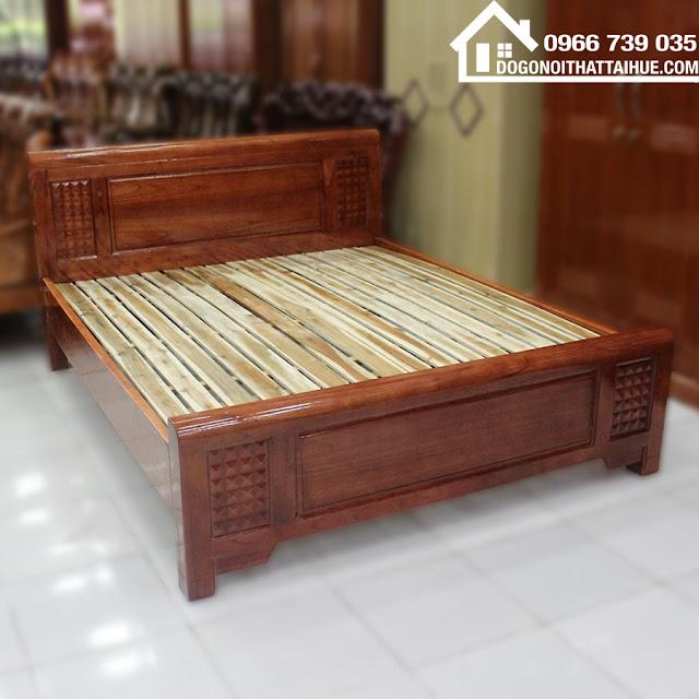 Mua giường ngủ ở Huế, Mua giường ngủ ở Đà Nẵng, Giường gỗ xoan đào, Mua giuong ngu o hue, Cua hang noi that tai Hue