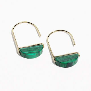 & Other Stories - Green Stone Hoop Hook Earrings - Jewellery Blog - Jewellery Curated