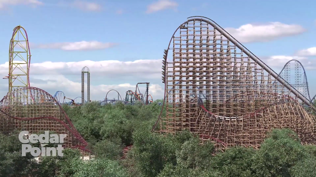 cedar point steel vengeance first drop track hybrid coaster 2018