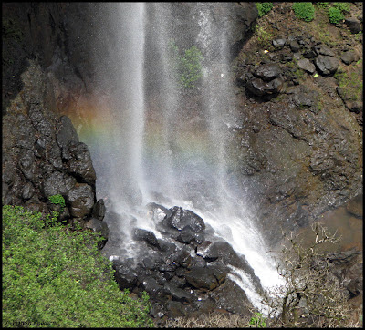 Rainbow in Madhe Ghat Waterfall