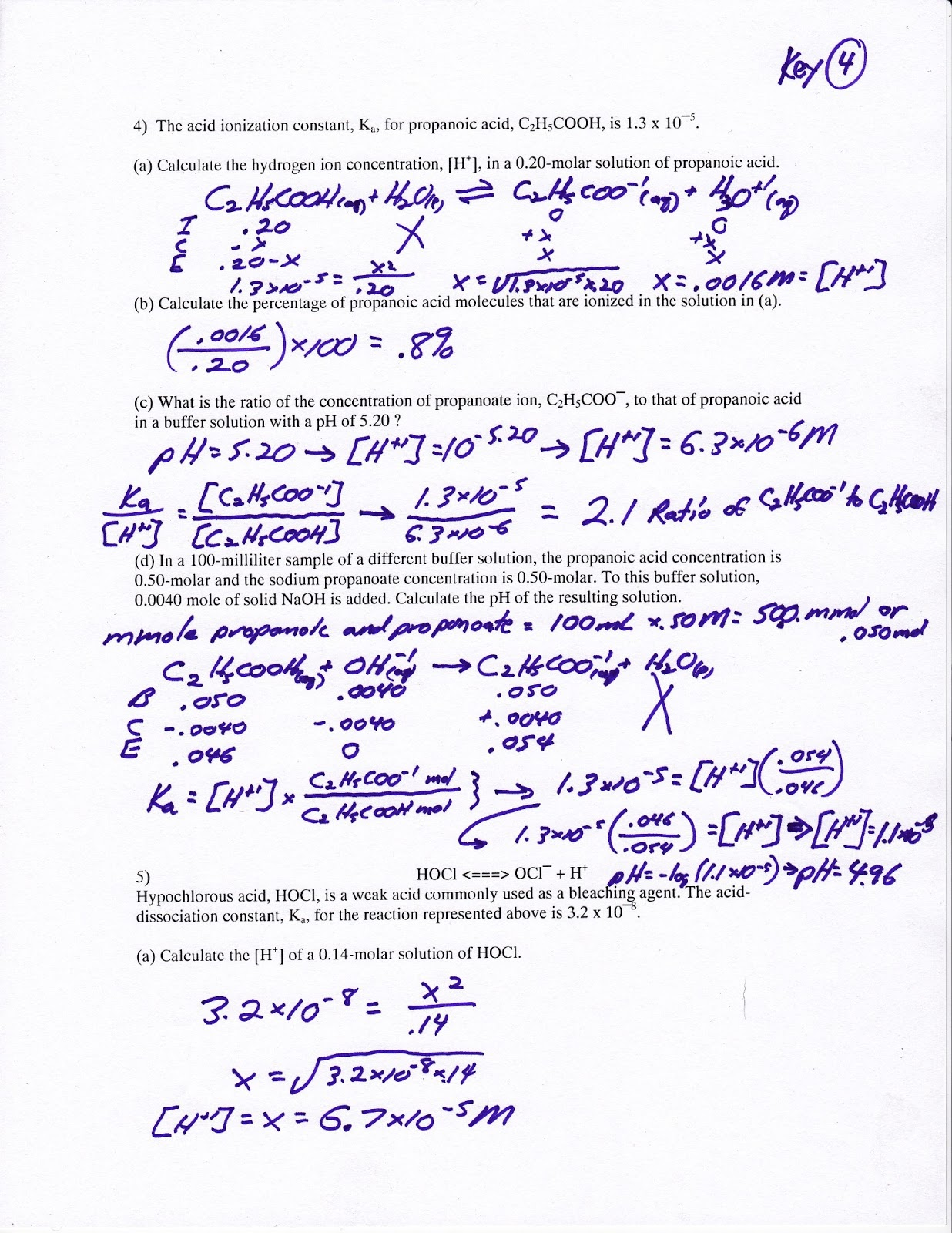 Limiting Reactants Molarity And Solutions Worksheet