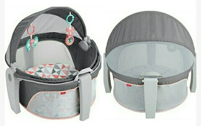 Baby's 2-in-1 Mini Cot Dome with Removable Toys