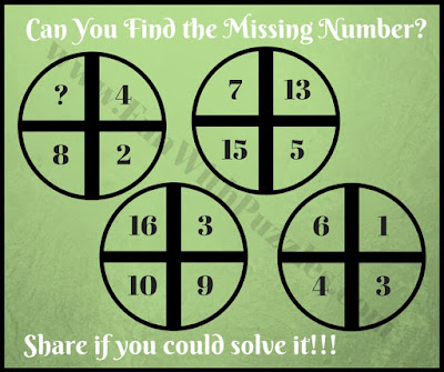 Thinking math cross circle brain teaser