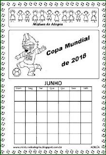 Calendário copa mundial 2018 Rússia