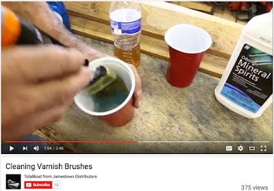 Video on how to clean varnish brushes