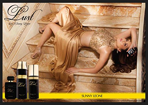 Sunny Leone HQ Photoshoot in Golden dress For Lust Perfume