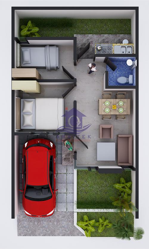 Desain Rumah Ibu Nadia di Bekasi
