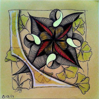 IAST Challenge #207 with Patterns: Cross-Ur-Heart, Ginkgo leaves