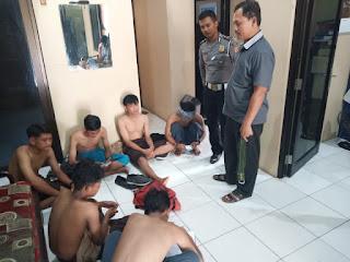 Pasca Tawuran, Polsek Weru Kab Cirebon Amankan Sejumlah Pelajar