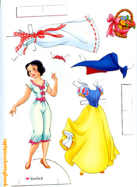 Snow White paper dolls