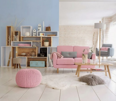 Pastel colors in the interior