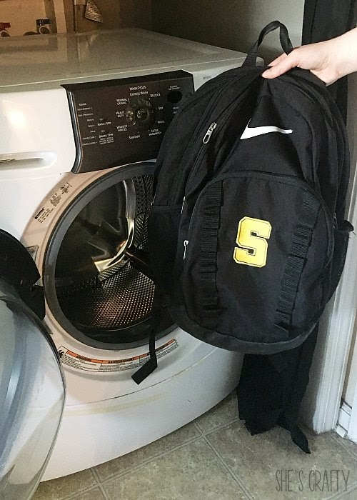 Ways to Finish School and start Summer Break - wash backpacks and lunch boxes in washer