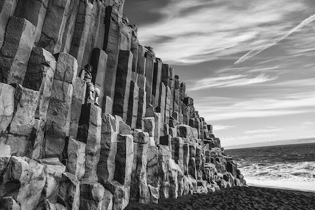 basalt rock formation Reynisfjall Vik Iceland