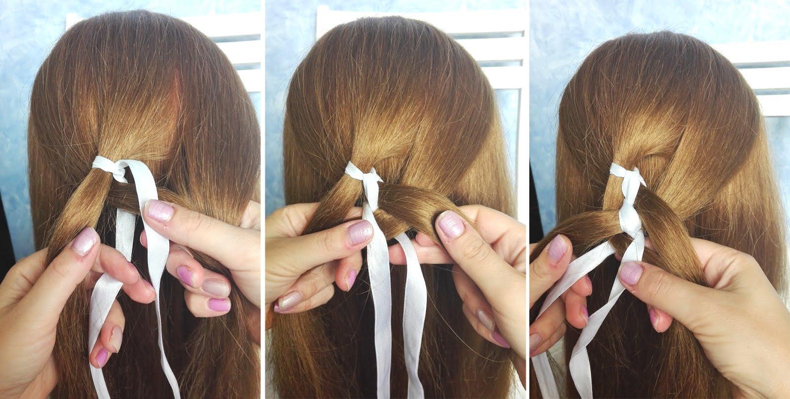 5 Częściowy Warkocz Ze Wstążką Hair By Jul Fryzury Krok
