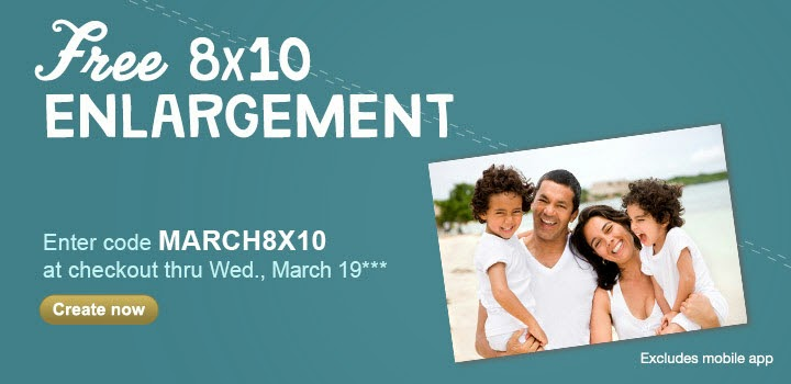 Free 8x10 Enlargement