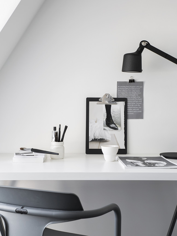 scandinavian home office. simple scandinavian home office styling by pela hedeby photographer sara medina lind for lenca