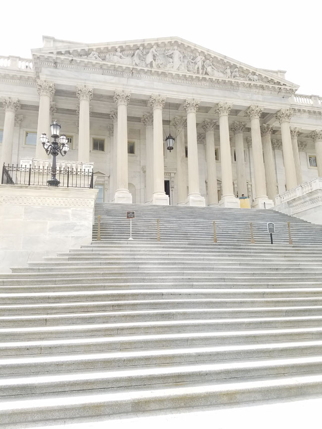 steps to the house building - independence avenue