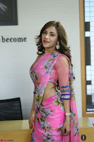 Actress Angela Krislinzki in Pink Saree Blouse Exclusive Pics March 2017 ~  128.JPG