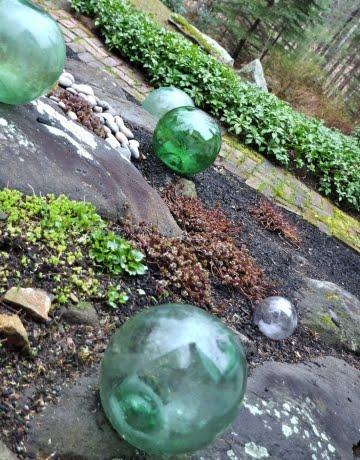 glass balls outside