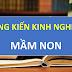 SÁNG KIẾN KINH NGHIỆM MẦM NON 3-4 TUỔI