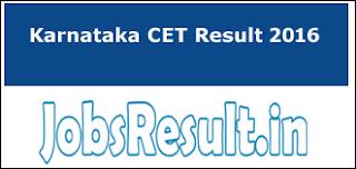 Karnataka CET Result 2016