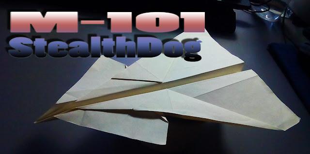 Avión de papel M-101