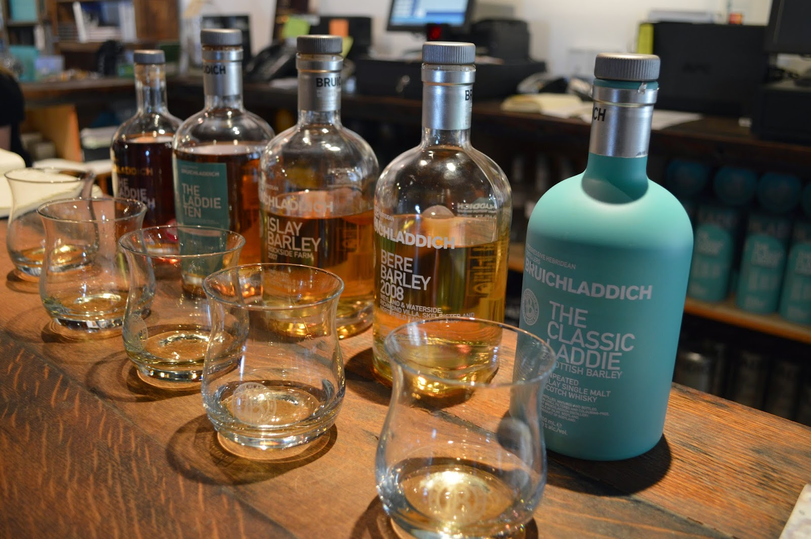 Whisky tasting, Bruichladdich, Islay, Scotland
