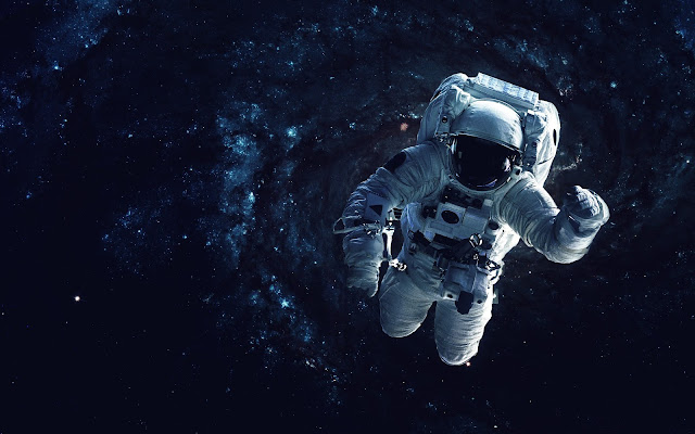 Photo of an astronaut floating in space.