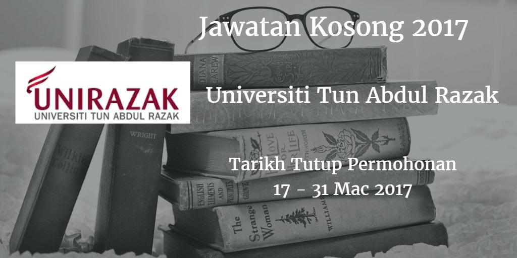 Jawatan Kosong UNIRAZAK 17 - 31 Mac 2017