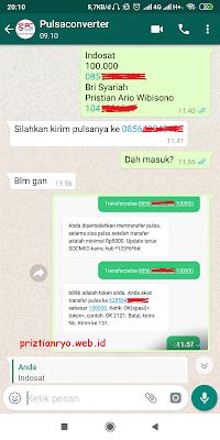 Cara Convert Pulsa Indosat ke ATM Bank